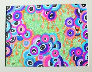 Original Ink illustration 'Eye Ball Ooze' by Michelle Ranson