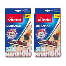 Vileda Ultramax 1-2 Spray Mop Head Microfibre Pads - Pack Of 2