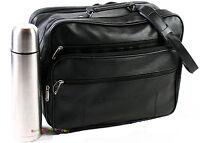 Flugumhänger Arbeitstasche Umhänger Herrentasche 18 L Leder Optik F11