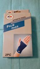 Elegant Products Palm Pads/Sports Pads/2 Pc/Blue Trimmed In White