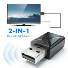 2 in 1 USB Bluetooth 5.0 Transmitter Receiver AUX Audio Adapter for TV/PC/Car Ba