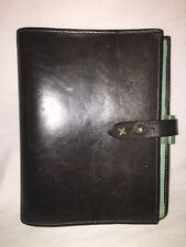 Franklin Covey Vtg Classic 7 Ring ALL Leather Organizer Agenda BusinessPortfolio