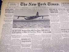 1947 NOVEMBER 3 NEW YORK TIMES - HUGHES FLIES 200 TON PLANE - NT 3305