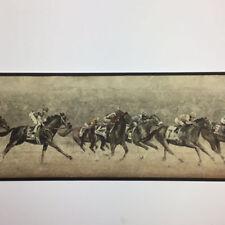 Wallpaper Border Jockeys On Running Horses Racing