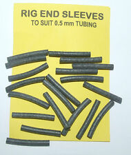 Rig End Sleeves to Suit 0.5mm Tubing Black, average contents 20 - carp coarse