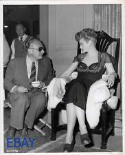 Directior Douglas Sirk Lucille Ball VINTAGE Photo Personal Column candid on set