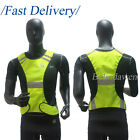 High Visibility Reflective Vest Safety Security Gear Stripes Jacket Night Work