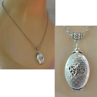 Locket Necklace 4 Pictures Pendant Jewelry Handmade Heart Pictures Stash Women