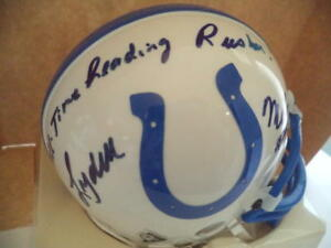LYDELL MITCHELL BALTIMORE COLTS ALL TIME LEADING RUSHER SIGNED RIDDELL MINI HELM