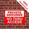 Private Grounds Nein Durch Zugriff Schild Öffentlichen Rechts Von Weg Oder 3051