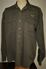 Harley-Davidson Mens Heavy Twill Shirt Jacket XL Dark Gray