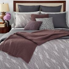 Oake Bedding, Briar Twin Duvet Cover and 2 Standard Shams Set Gray Y1612