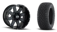 17x9 ION 141 Gloss Black Wheel and AT Tire Package 17X9 5x5 Jeep Wrangler JK (5)