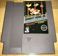 DONKEY KONG JR. for NES Early 5-Screw Cart SHOWN WORKING! Nintendo 1986 NICE!