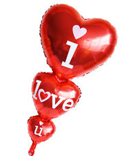 Triple heart I love you foil balloon for wedding party decoration valentine day