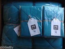 PB Teen Pottery Barn Teen Mini Dot Sea Blue Comforter & 4 Shams F/Q New Full
