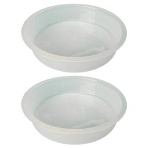 2x Bird Feeding Station Tray Food Water Bowls Dish Feeder for Cockatiel Parakeet