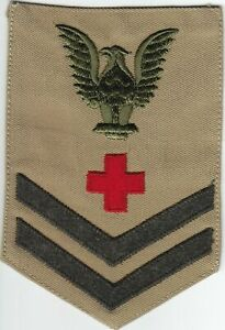 WW2 Tan US Navy PO 2nd Class Rate (DH) -  Pharmacist's Mate