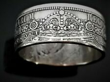 Queen Victoria 1/2 Crown Coin Ring Handcrafted .925% Silver 1887-1892 Size 6-13