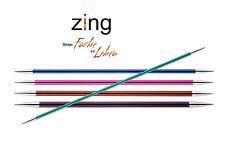KnitPro ZING Nadelspiel Aluminium bunt beschichtet %7c 15cm - 2,00 - 8,00mm