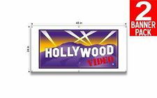 Hollywood Video 24 X 48 Inch Vinyl Banner 2 Pack