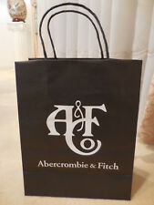 "A & F Abercrombie & Fitch Boutique Empty Paper Gift Bag White Logo 8"" X10"" X 4"""