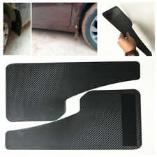 2Pcs Universal Car SUV Truck Black Carbon Fiber Look Mud Flaps Mud Guard Fender