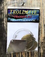 Shasta Tackle Troll-Lite Flashers Colorado Hammered Brass Fishing Trolling Rig