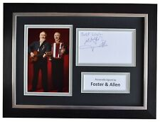 More details for foster & allen signed a4 framed autograph photo display ireland music aftal coa