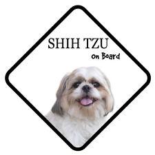 Shih Tzu Hund On Board Auto Schild mit Saugnapf Sticker Aufkleber