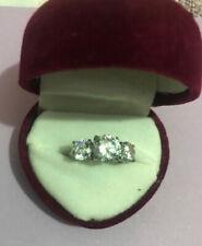 Silver Diamante Ring Size J