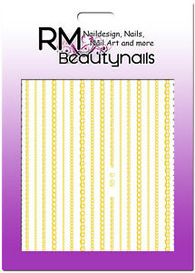 Flex Stripes Gold Flexible Streifen Nagel Sticker Aufkleber Kette Nailart Design