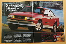 Magazine Print Ad 1987 Chevrolet Cavalier Z24