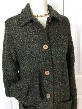 NWT $162  DEMOCRACY DEMOCRACY BUTTON DOWN LONG SWEATER/JACKET FALL COLORS SZ S