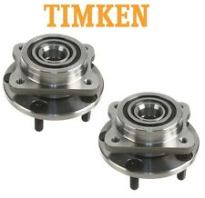 For Chrysler Dodge Plymouth Pair Set of Front Wheel Bearings & Hubs Timken