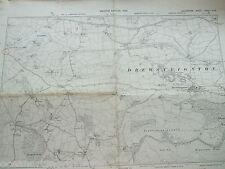 DEVON DEVONSHIRE VINTAGE MAP LARGE 1906 DREWSTEIGHTON PIDDLEDOWN COMMON