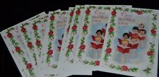 Vintage Lot 10 Guideposts Panoramic Cards SCRIPTURE CHRISTMAS CHOIR Boys Girls
