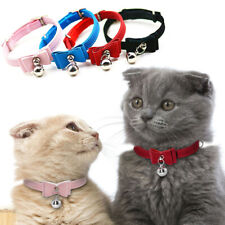 Pet Bell Collar Cat Kitten Collar Bow Tie Pet Neck Chain For Cats Dogs Pet Gift