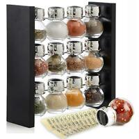 Spice Rack Stand Holder with 12 Bottles   Sleek & Attractive  Close to your Hand