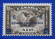 """CANADA  (#C04) 1932 Allegory - Air Mail Circles & Globe """"surcharged"""" MNH single"""