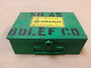 "GREENLEE 1820 WIRE STRIPPER W/CASE AND 6 DIES 1822-1824 & 1826-1828 ""AK"""