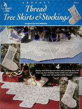 THREAD TREE SKIRTS STOCKINGS Christmas Crochet BOOK NEW Hobbies & Crafts