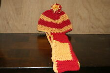 NEW HAND MADE CROCHET 49'ERS COLORS BEANIE & SCARF COMBO TODDLER