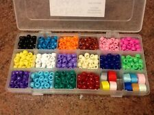 811pcs  Beads Kit, Inc 800 Pony Beads, 1x18 Compartment Case, 10 lengths Ribbon