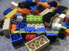 LEGO Lot 100 Pieces ASSORTED BRICKS 2x4, 1x1, 6x8, 2x2, 1x2 Building Blocks