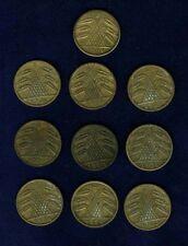 GERMANY WEIMAR REP. 5 REICHSPFENNIG COINS: 1924-E,1925D