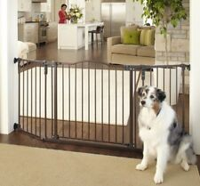North States Extra Wide Bronze Auto-Close Angle Mount Dog Pet Child Gate 4944