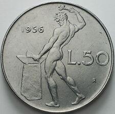1956   Repubblica Italiana   50   lire   qspl