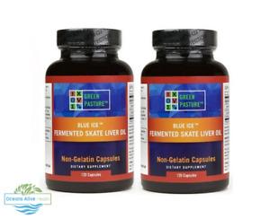 Blue Ice Fermented Skate Liver Oil x 2   240 Capsules   Green Pasture - Omega 3