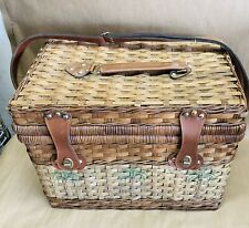 Wicker Picnic Basket With Top Tray & Sholder Strap Only